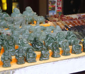 Jade figurines Buddhas — Stock Photo
