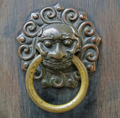 Chinese lion doorhandle — Stock Photo