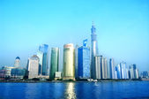 Beautiful Shanghai Pudong skyline — Stock Photo
