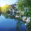 Chinese park in Hangzhou near Xihu Lake, China. — Stock Photo #36738369