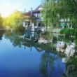 Chinese park in Hangzhou near Xihu Lake, China. — Stock Photo
