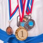 Teenage Boy Wearing Winning Medal — Stock Photo #4649277