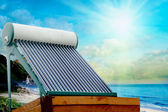 Solar heater — Stock Photo