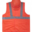 Yellow high visibility vest and protective helmet — Stock Photo #7624344