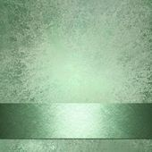 Soft faded abstract green background with vintage grunge background texture with darker ribbon stripe on border frame for website template or brochure ad layout design or book cover and title — Stock Photo