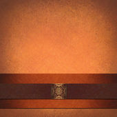 Disposition formelle fond orange — Photo