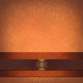 正式なオレンジ色の背景のレイアウト — ストック写真
