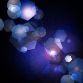 Blue background abstract bokeh lights — Stock Photo