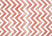 Grunge faded chevron stripes red and white background zigzag pattern — Stock Photo