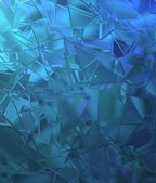 Abstract shattered glass blue background pattern — Stock Photo