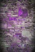 Abstract purple block stone wall background with dark edges and white center, classy light purple background for website or brochure, elegant luxury style background for ad or poster design layout — Stock Photo
