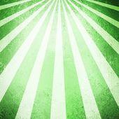 Green ray or sunshine retro background design sunbeam stream — Stock Photo