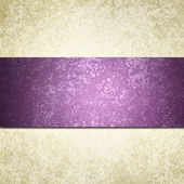 White background paper with purple striped ribbon — Stock Photo
