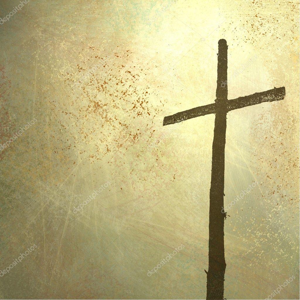 Easter cross background - Stock ImageEaster Cross Background