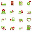 Industry icons, green-red series — Stock Vector #3107581