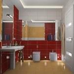 Modern interior of a bathroom 3D — Stock Photo #19201887