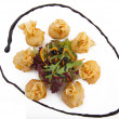 Meat dumplings on a plate — Stock Photo