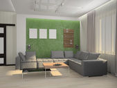 Living room 3D — Stock Photo