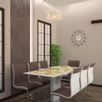 Dining room interior 3D — Stock Photo #42819665