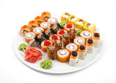 Sushi and rolled — Stock Photo