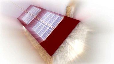 Solar Energy - House - light — Stock Video