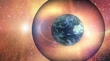 Earth - magnetic field — Stock Video