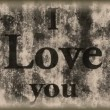 Royalty-Free Stock Vector Image: I love you - vintage