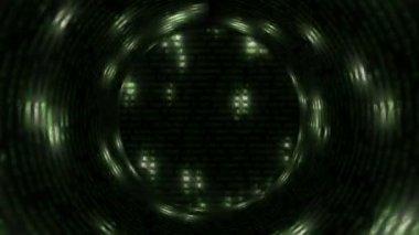 Abstract Tunnel - Matrix — Stock Video