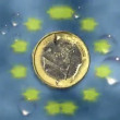 Currency - 1 Euro - animation — Stock Video