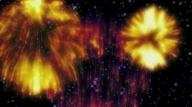 Fireworks - stars — Stock Video