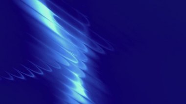 Abstract light waves - blue — Stock Video