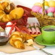 Easter breakfast - Stock Photo