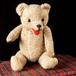 My first teddy bear — Stock Photo