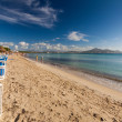 Beach of Alcudia — Stock Photo