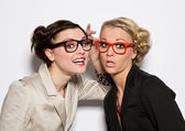 Women with glasses — Stock Photo