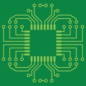 印刷电路板 — 图库矢量图片