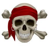 Calavera pirata — Vector de stock