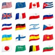 Vector set of world flags - Stok Vektör