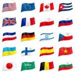 Vector set of world flags — Stock Vector