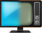 Illustration of a new and old television — Stock Vector