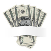 Dollars on a white background — Vetorial Stock