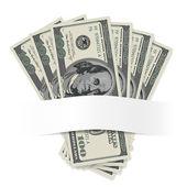Dollars sur fond blanc — Vecteur