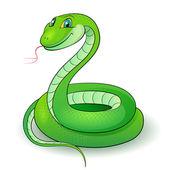 Illustration of a nice green snake — Stock Photo