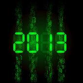 Set of digital numbers - twenty thirteen. Illustration for design — Stock Vector