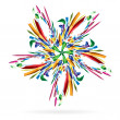 Royalty-Free Stock Vector Image: Abstract colourful star for your design.