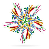 Abstract colourful star for your design. — Stock Vector