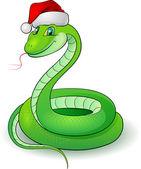 Cartoon illustration of a snakes (symbol 2013) — Vecteur