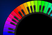 Piano keys. Illustration on black background, for design — Stock Vector