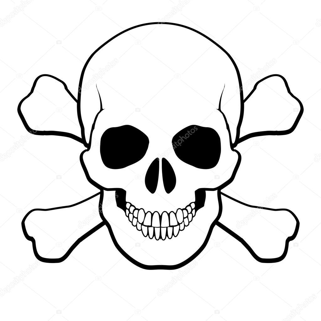 Teschio e ossa incrociate — vettoriali stock dvargg