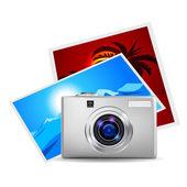 Realistic digital camera — Stock Vector